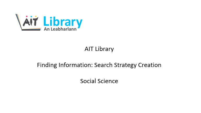 Finding information search strategy for social science video