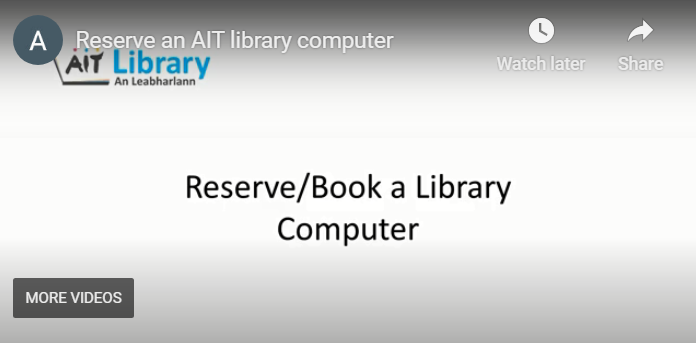 Reserve/Book a library computer
